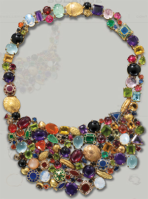 Solange Azagury-Partridge Stoned Necklace.