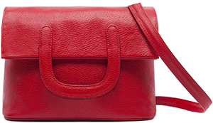 Steiger Paris Bolero Small Red Grained Leather handbag: €850.