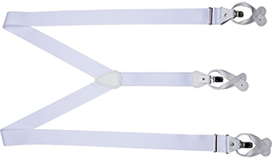 Suitsupply Non Elastic White Suspenders.