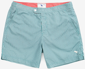 Ted Baker Bufpop Pinstripe swim shorts: US$110.