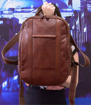 Terrapin Technology Leather Backpack: £420.
