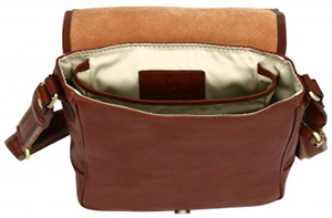 Terrapin Technology Small Leather Messenger Bag: £420.