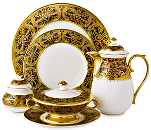 Thomas Goode Boulle Tableware - Thomas Goode, 9 South Audley Street, Mayfair, London, W1K 2BN, England, U.K.