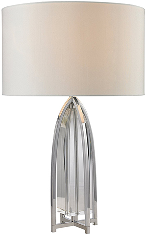 Trump Home Lighting Collection Dimond Lighting D2685 Trump Home Wheeler Table Lamp, Chrome: US$338.