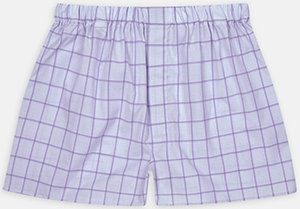 Turnbull & Asser Lilac Grid Check Cotton Boxer Shorts: €55.