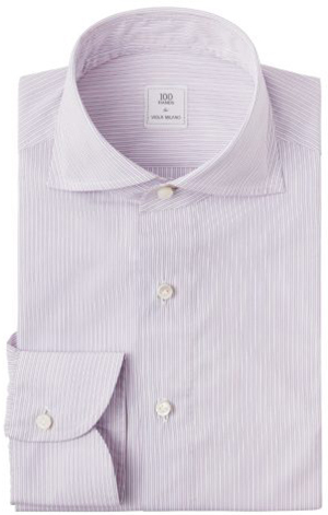 Viola Milano × 100 hands Slim-Fit – Pink Contrast men's shirt: €698.