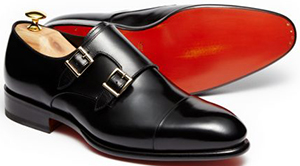 Viola Milano Santoni Double Buckle Monk Strap – Black men's shoes: €745.