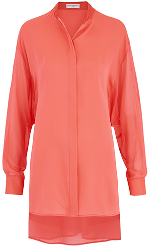 Amanda Wakeley Sinai Fluoro women's pleat shirt: £395.