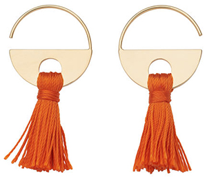 Whistles women's Tassel Hoop Earrings: £20.