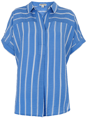 Whistles women's Ellen Stripe Casual Shirt: £95.