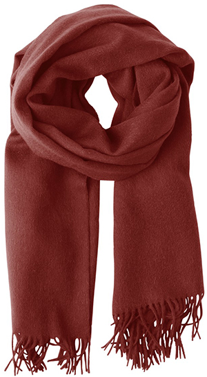 Won Hundred women's Caden scarf, Russet Brown.