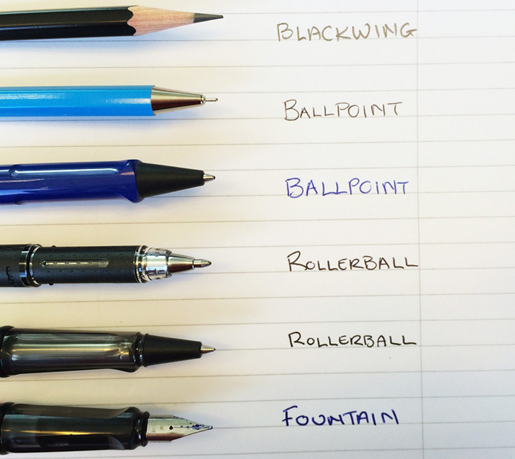 Ballpoint vs rollerball - What is the difference between ballpoint and rollerball pens?
