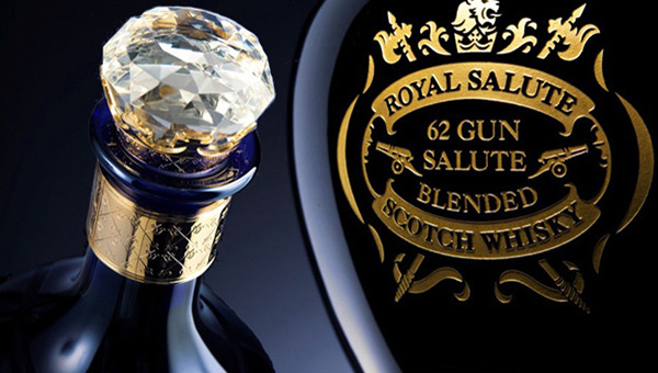 Royal Salute blended Scotch whisky - launched on 2 June 1953 in tribute to Queen Elizabeth II on the day of her coronation. Named after the traditional 21-gun salute, Royal Salute whisky is aged for a minimum of 21 years.