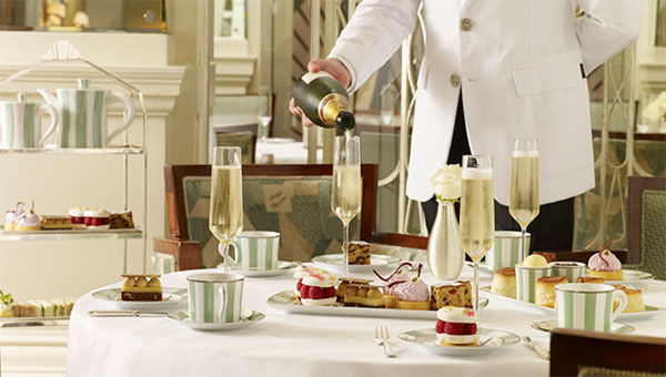 Afternoon tea at Claridge's, Brook Street, Mayfair, London W1K 4HR, England, U.K. Price: £63 per person including a glass of Laurent-Perrier champagne.