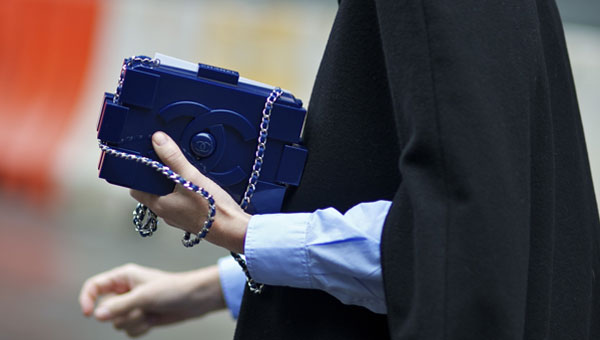 Chanel Minaudière plexiglass clutch with a long chain and lambskin lining: £5,730.
