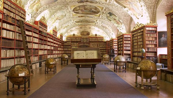Library of Strahov Monastery, (The Theological Hall), Prague, Czech Republic.